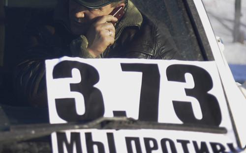 <p>Массовая акция протеста дальнобойщиков в Новосибирске<br /> &nbsp;</p>