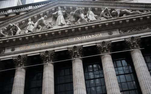 Вид на здание Нью-Йоркской фондовой биржи