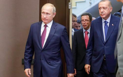 Владимир Путин и Реджеп Тайип Эрдоган (слева направо)