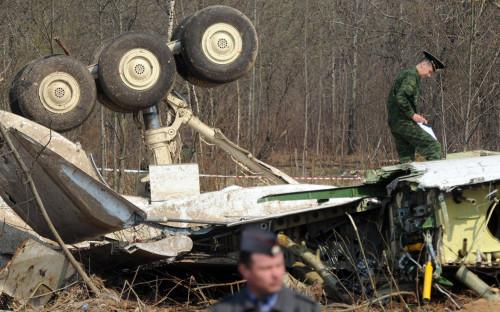 Место крушения Ту-154 президента Польши Леха Качиньского. 2010 год