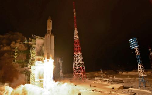 Старт ракеты-носителя «Ангара-А5» на космодроме Плесецк. 2014 год