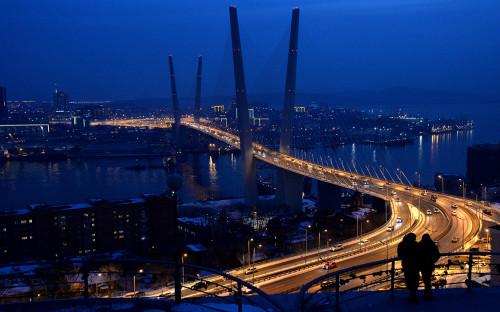 Вид на город Владивосток