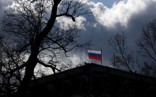 Вид на здание посольства Российской Федерации в Праге