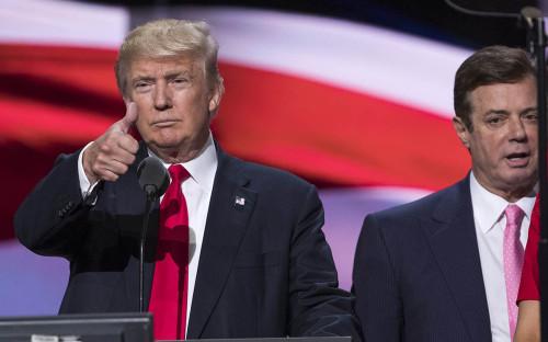 <p>Дональд Трамп и Пол Манафорт</p>  <p></p>