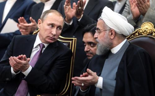 Владимир Путин и Хасан Рухани. 2015 год