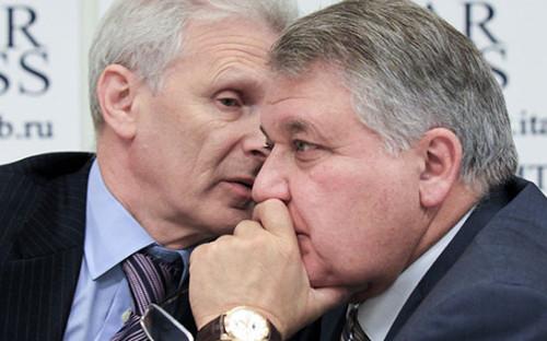 <p>Андрей Фурсенко и Михаил Ковальчук</p>  <p></p>