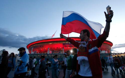 Болельщики после матча ЧМ Россия — Египет. 19 июня 2018 года