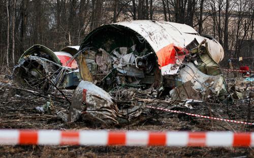 Место крушения самолета Ту-154 под Смоленском