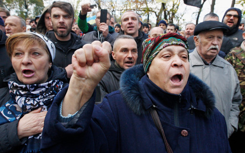 <p>Акция Саакашвили в Киеве. 22 октября 2017 года</p>  <p></p>