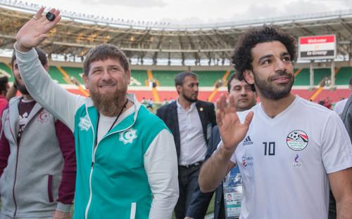Рамзан Кадыров (слева) и Мохамед Салах