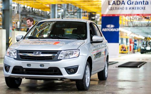 """<p><strong><span style=""""font-size:16px;"""">Lada Granta</span></strong><br /> <br /> Бестселлер АвтоВАЗа, модель возглавляет рейтинг самых продаваемых автомобилей в России с 2012 года, когда была поставлена на конвейер. В 2014 году было продано 152,8 тыс. Granta &ndash; на 8% меньше, чем годом ранее.</p>"""