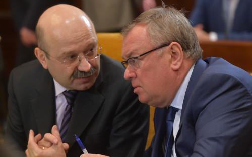 Михаил Задорнов (слева) и Андрей Костин (справа)
