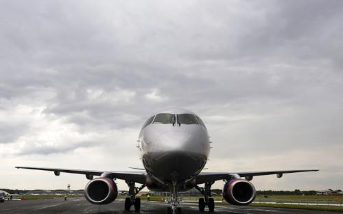 Самолет Sukhoi Superjet 100 авиакомпании «Аэрофлот»