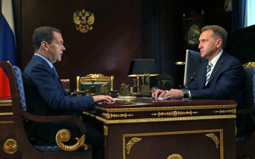 Дмитрий Медведев и Игорь Шувалов