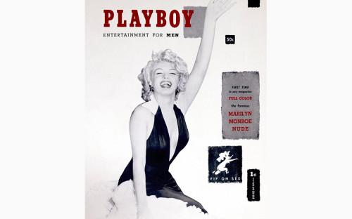 <p>Первоначальное название журнала, который&nbsp;собрался выпускать 27-летний Хефнер, было Stag Party (&laquo;Холостяцкая вечеринка&raquo;). Но за&nbsp;месяц до&nbsp;выхода уже существовавший на&nbsp;тот момент журнал Stag заявил о&nbsp;своих правах на&nbsp;название и&nbsp;Хефнеру пришлось его менять. Под брендом Playboy работала небольшая компания его приятеля по&nbsp;продаже автомобилей.</p>  <p>Первый номер Playboy поступил в&nbsp;продажу в&nbsp;Чикаго 1 декабря 1953 года. На обложке журнала была фотография Мэрилин Монро, хотя&nbsp;сама кинозвезда никогда не&nbsp;позировала для&nbsp;Playboy. Хью Хефнер использовал фотографию актрисы, сделанную на&nbsp;параде &laquo;Мисс Америка&raquo;. На самом журнале не&nbsp;было ни&nbsp;даты, ни&nbsp;номера, поскольку&nbsp;его основатель сомневался&nbsp;&mdash;&nbsp;появится&nbsp;ли&nbsp;второй. Но уже первый выпуск был продан более чем&nbsp;54 тыс. экземпляров. В октябре 2008 года номер из&nbsp;первого тиража был продан на&nbsp;аукционе в&nbsp;Bloomsbury в&nbsp;Лондоне за&nbsp;$3,25&nbsp;тыс. Впоследствии для&nbsp;журнала будут позировать много известных актрис, включая&nbsp;Софи Лорен, Бриджит Бардо и&nbsp;Катрин Денев.</p>  <p>Знаменитый кролик Банни&nbsp;&mdash;&nbsp;логотип Playboy&nbsp;&mdash;&nbsp;появился только&nbsp;во&nbsp;втором номере (был создан арт-директором журнала Артуром Полом).</p>