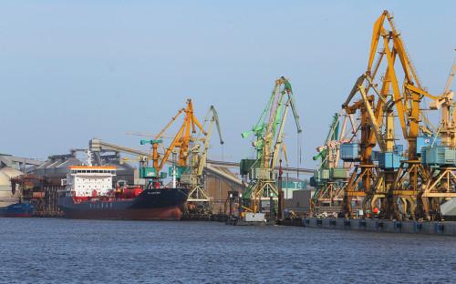 <p>Торговый порт в Литве</p>
