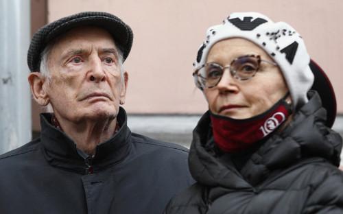 <p>Василий Лановой и Ирина Купченко</p>