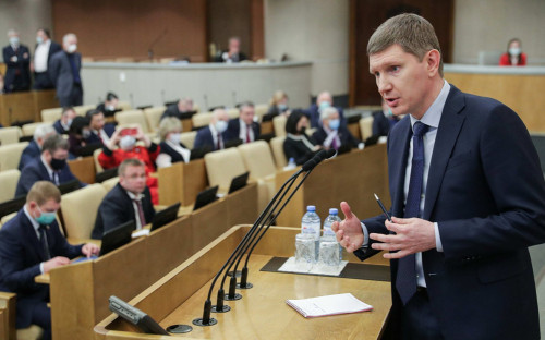 Максим Решетников на пленарном заседании