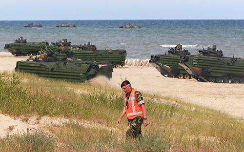 <p>Учения войск НАТО</p>  <p></p>