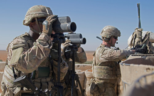 Американские военные в Сирии. Ноябрь 2018 года