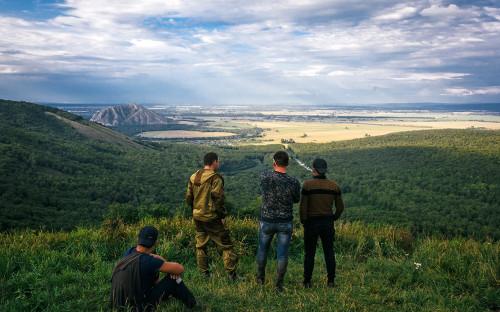 Активисты на горе Куштау