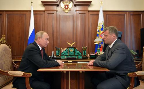 Владимир Путин и Игорь Бабушкин