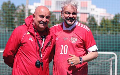 Фото:Станислав Черчесов и Филипп Киркоров (Константин Рыбин/rfs.ru)