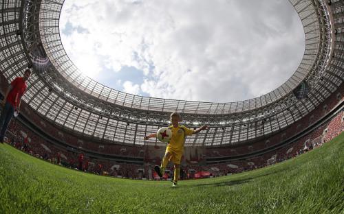 Церемония старта тура Кубка мира по футболу