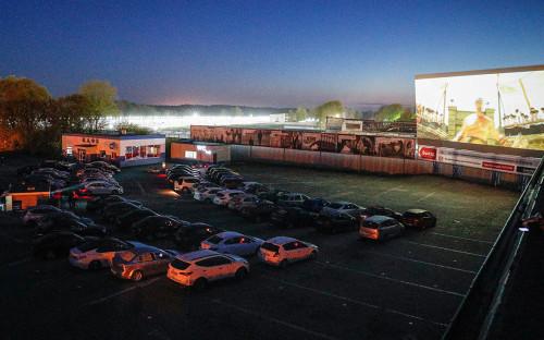 Открытие автокинотеатра под открытым небом «Ночной дозор» в Калининграде