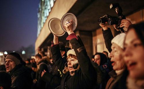 <p>Участники несанкционированной акции протеста в&nbsp;Минске</p>
