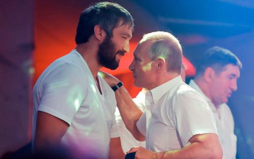 <p>Александр Овечкин и Владимир Путин</p>  <p></p>