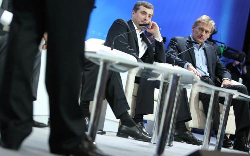 <p>Владислав Сурков и Дмитрий Песков</p>  <p></p>