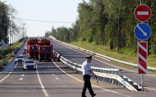 Участок ЦКАД от Можайского до Новорижского шоссе