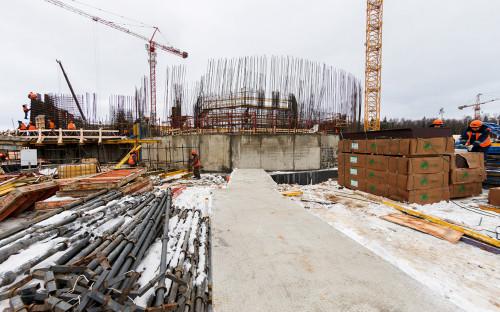 <p>Строительство Главного храма Вооруженных сил России в парке &laquo;Патриот&raquo;<br /> &nbsp;</p>