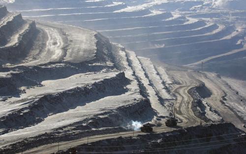 Открытый карьер угольного разреза Эльгинского месторождения <div></div>