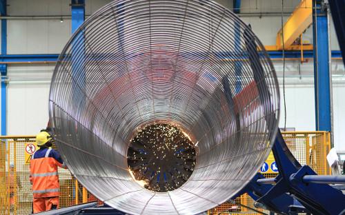 Бетонирование труб для газопровода «Северный поток — 2»
