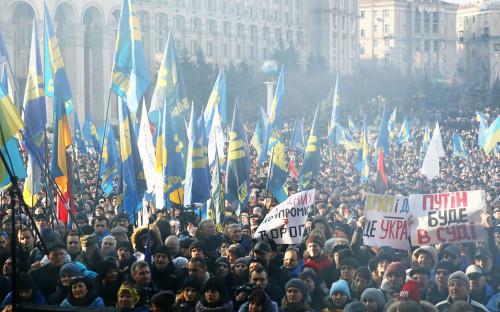Митинг оппозиции в Киеве 8 декабря