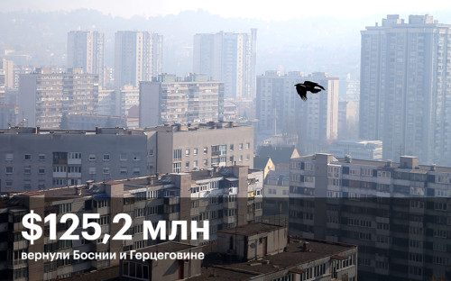 """21 марта Россия сообщила, что&nbsp;в&nbsp;течение&nbsp;45 дней будет выплачен последний долг СССР: Боснии и&nbsp;Герцеговине <a href=""""http://www.rbc.ru/economics/21/03/2017/58d0f13c9a79470517301cbd"""">будет перечислено</a> <span style=""""color:#A52A2A;"""">$125,2 млн</span>. Долг возник из-за&nbsp;поставок товаров из&nbsp;бывшей Югославии.<br /> <br /> <br /> &nbsp;"""