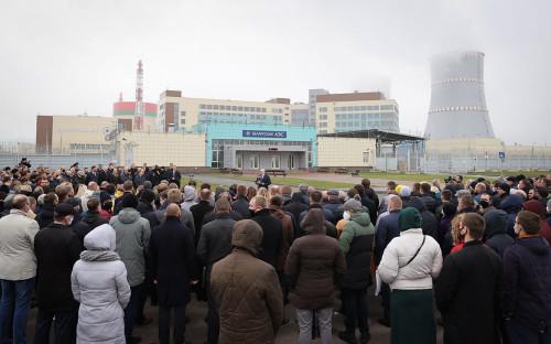 Церемония открытия первого энергоблока Белорусской атомной электростанции БелАЭС