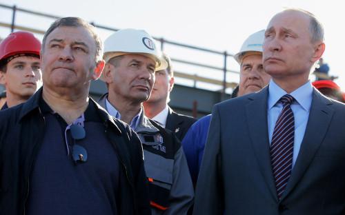 <p>Аркадий Ротенберг и Владимир Путин</p>  <p></p>