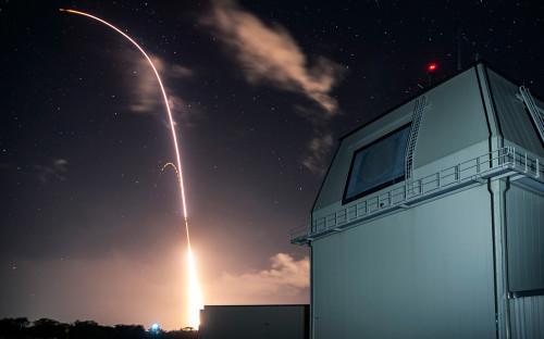 Испытание противоракетного комплекса «Иджис Эшор»