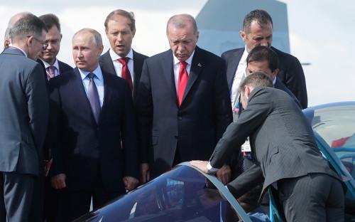 Владимир Путин иРеджеп Эрдоган