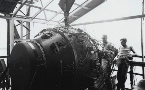 <p>Подготовка к первому ядерному испытанию, лаборатория в Лос-Аламосе</p>