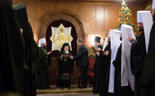 Патриарх Варфоломей и Петр Порошенко