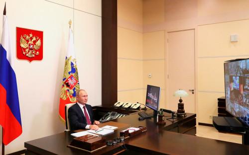 Владимир Путин на Всероссийском открытом уроке «Помнить – значит знать»(в режиме видеоконференции)