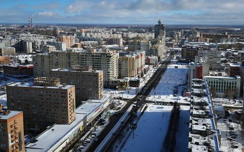 Вид на город Архангельск