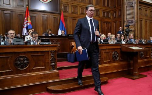Александр Вучич в парламенте