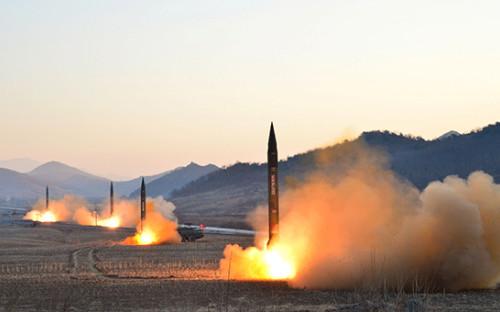 <p>Запуск баллистических ракет Хвасонг-6</p>  <p></p>  <p></p>  <p></p>