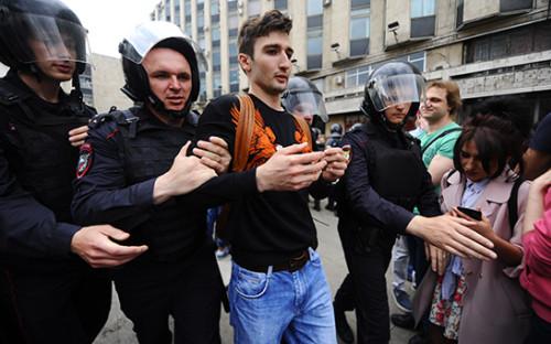 Задержания вМоскве