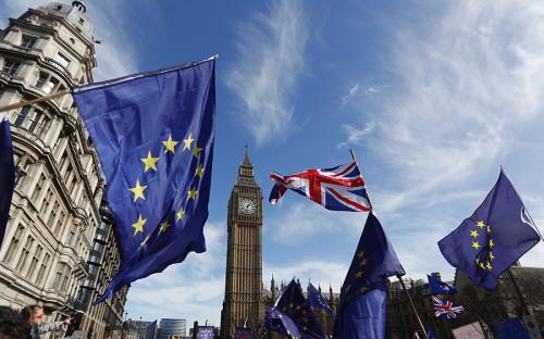 <p>Акция за единство Евросоюза в Лондоне</p>  <p></p>